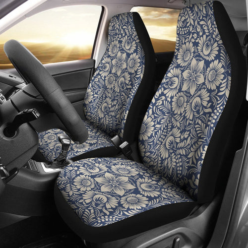 Elegant Floral Print Pattern Universal Fit Car Seat Covers