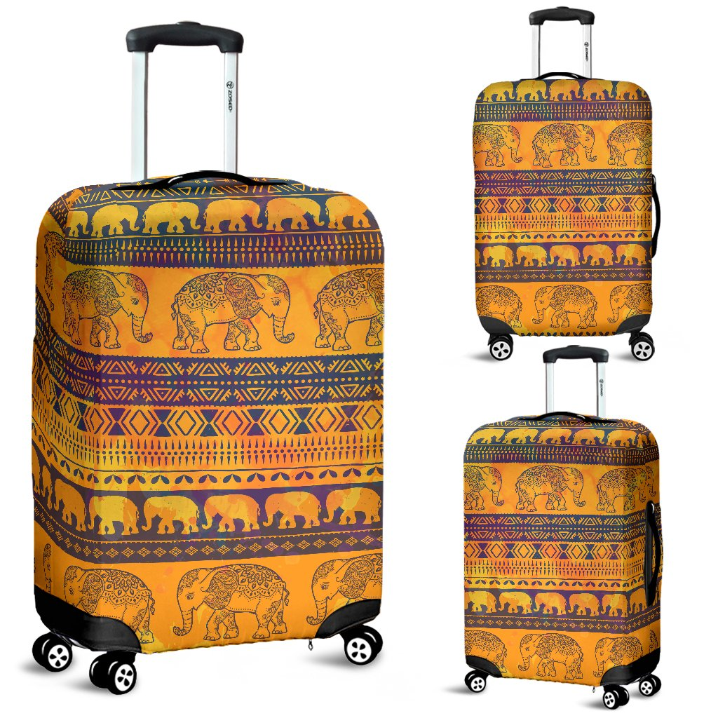 Elephant Aztec Luggage Cover Protector