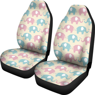 Elephant Baby Pastel Print Pattern Universal Fit Car Seat Covers