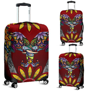 Elephant Colorful Indian Mandala Luggage Cover Protector