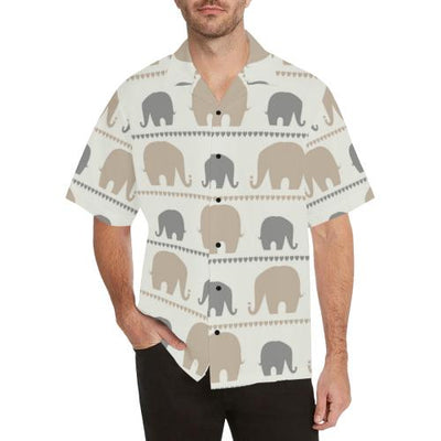 Elephant Cute Men Hawaiian Shirt
