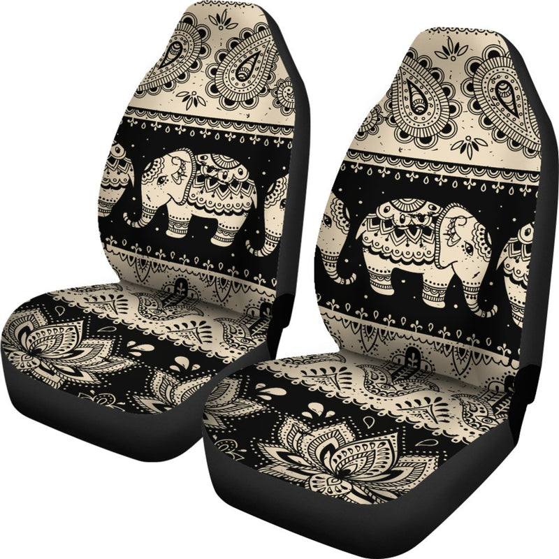 Elephant Hansa Lotus Pattern Universal Fit Car Seat Covers