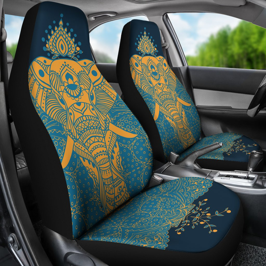 Elephant Indian Universal Fit Car Seat Covers Jorjune