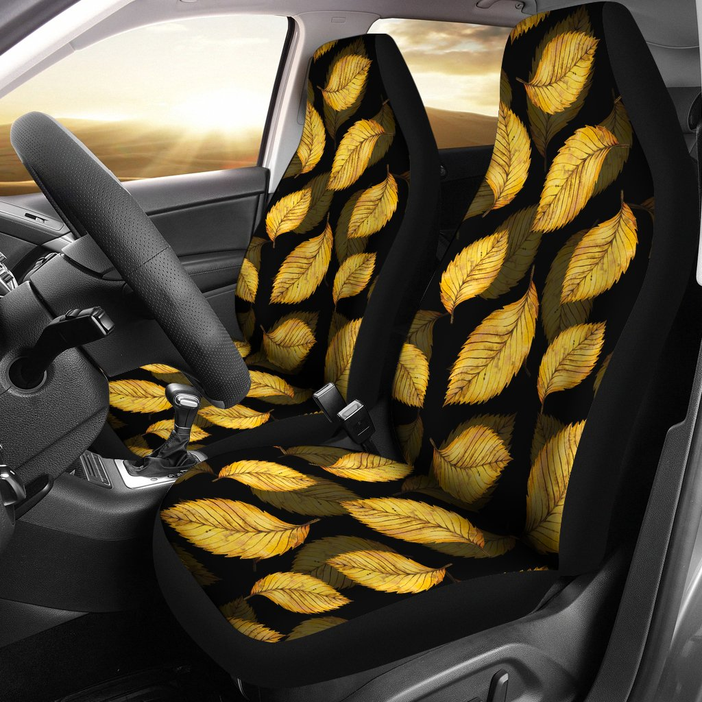 Elm Leave Summer Print Pattern Universal Fit Car Seat Covers