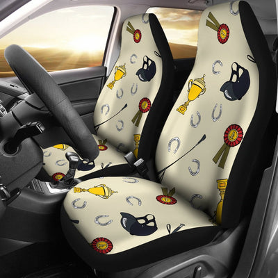 Equestrian Horseshoe Equipment Universal Fit Car Seat Covers