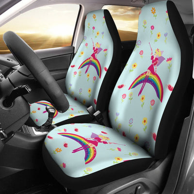 Fairy With Rainbow Print Pattern Universal Fit Car Seat Covers