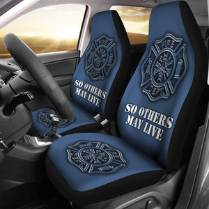Fire Department Universal Fit Car Seat Covers