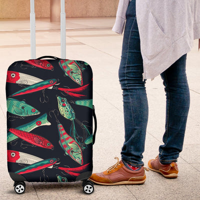 Fishing Bait Pattern Luggage Cover Protector