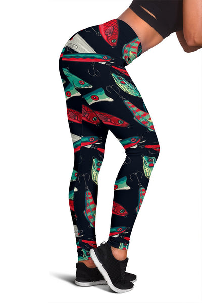 Fishing Bait Pattern Women Leggings