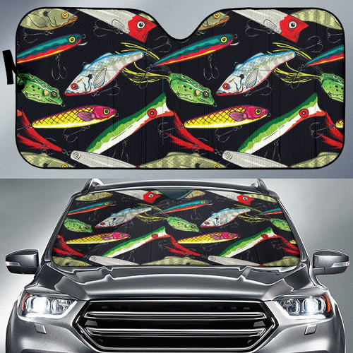 Fishing Bait Print Car Sun Shade-JorJune