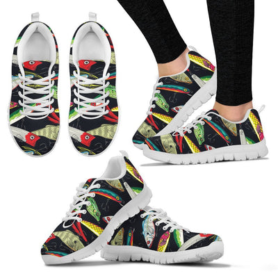 Fishing Bait Print Women Sneakers