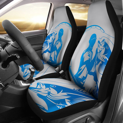 Fishing Men Universal Fit Car Seat Covers