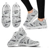 Fishing pattern Women Sneakers