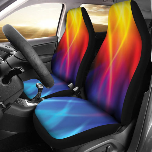 Flame Fire Blue Design Print Universal Fit Car Seat Covers