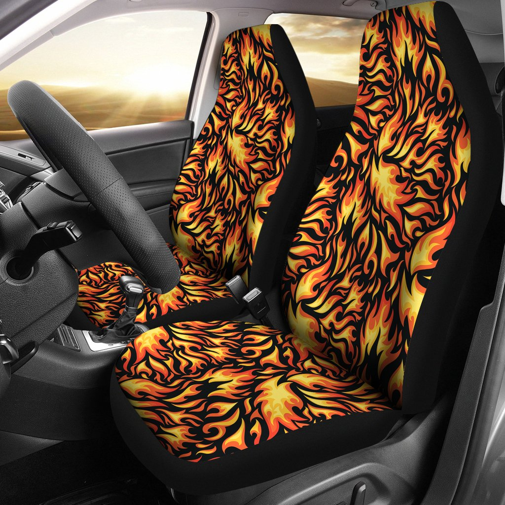 Flame Fire Design Pattern Universal Fit Car Seat Covers