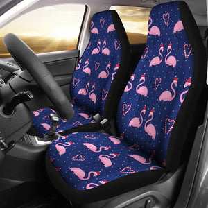 Flamingo Christmas Universal Fit Car Seat Covers
