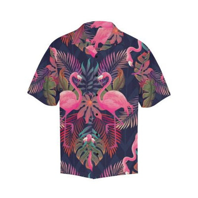 Flamingo Pink Scene Men Hawaiian Shirt