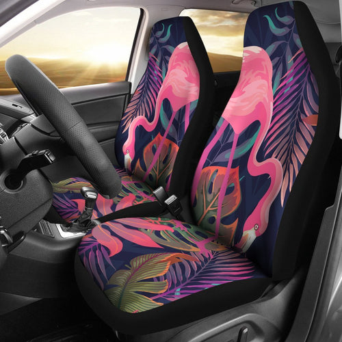 Flamingo Tropical Pattern Universal Fit Car Seat Covers