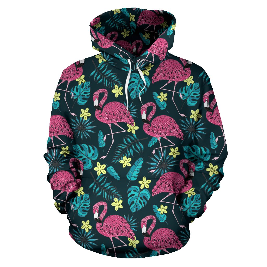 Flamingo Print Pattern All Over Print Hoodie
