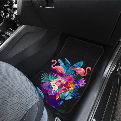 Flamingo Tropical Flower Car Floor Mats