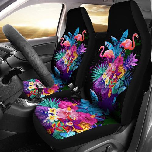 Flamingo Tropical Flower Universal Fit Car Seat Covers
