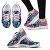 Flamingo Red Hibiscus Pattern Women Sneakers