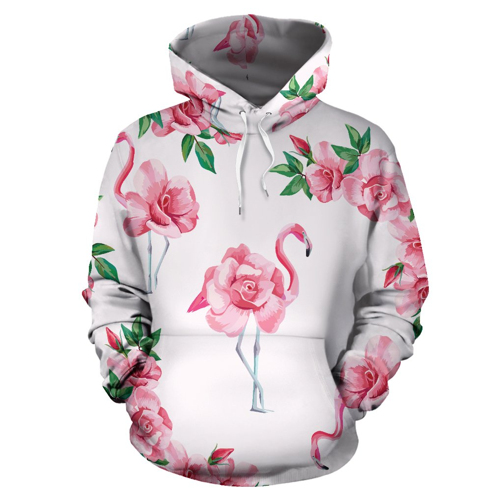 Flamingo Rose Pattern All Over Print Hoodie
