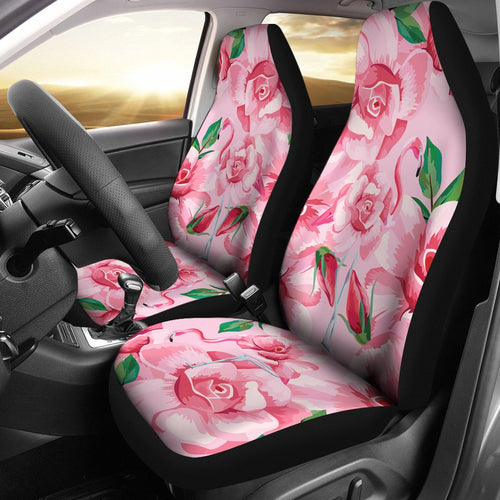 Flamingo Rose Pattern Universal Fit Car Seat Covers