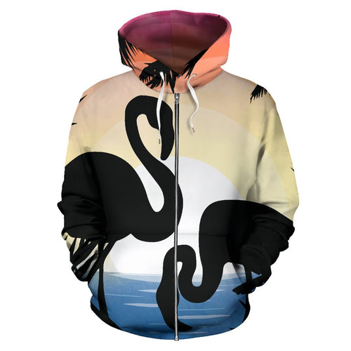 Flamingo Situate sense All Over Zip Up Hoodie