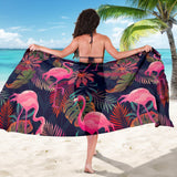 Flamingo Tropical Pattern Sarong Pareo Wrap