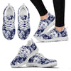 Floral Infrared Pattern Women Sneakers