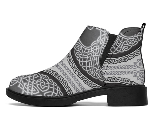 Celtic Tree of life Print Ankle Boots