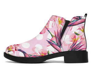 Bird Of Paradise Pattern Print Design BOP011 Ankle Boots