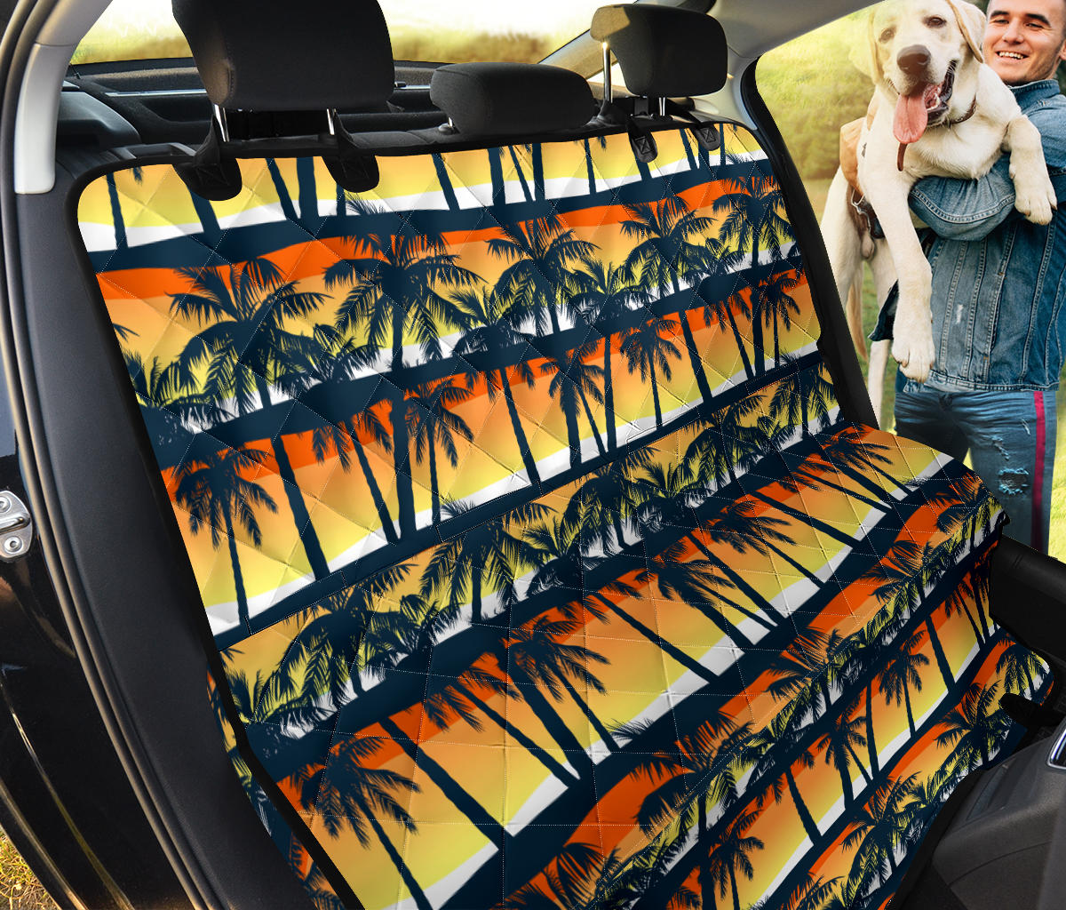 Palm Tree Pattern Print Design PT011 Rear Dog  Seat Cover