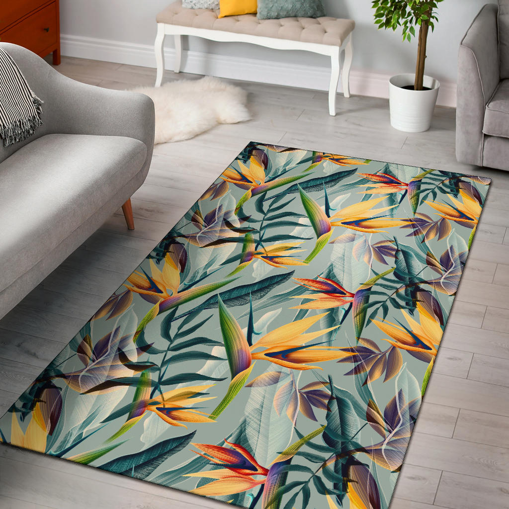 Tropical Flower Pattern Print Design TF022 Area Rugs