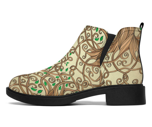 Celtic Tree of life Ankle Boots