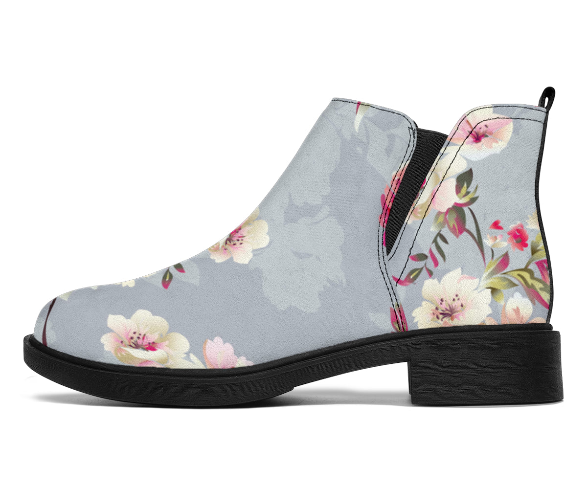 Summer Floral Pattern Print Design SF02 Ankle Boots