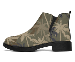 Palm Tree camouflage Ankle Boots