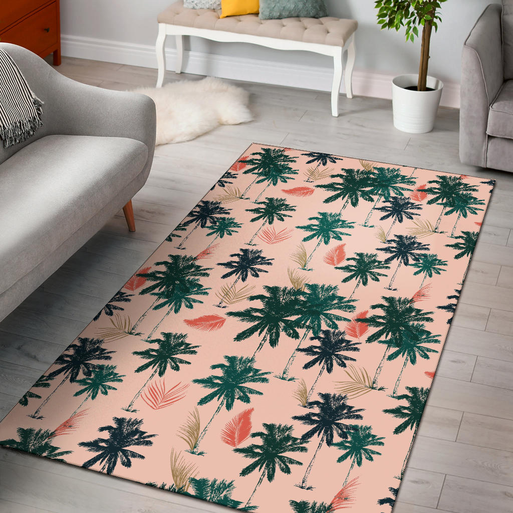 Palm Tree Pattern Print Design PT014 Area Rugs