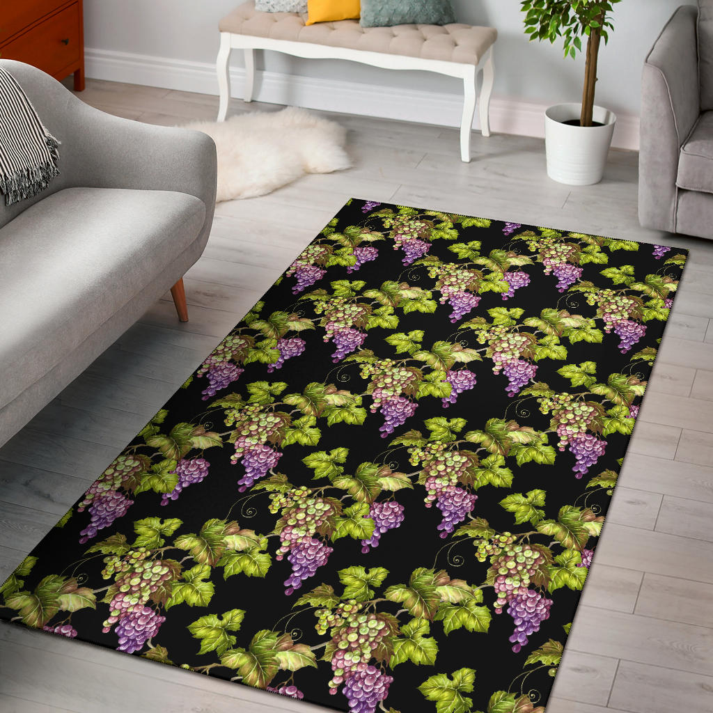 Grape Pattern Print Design GP04 Area Rugs