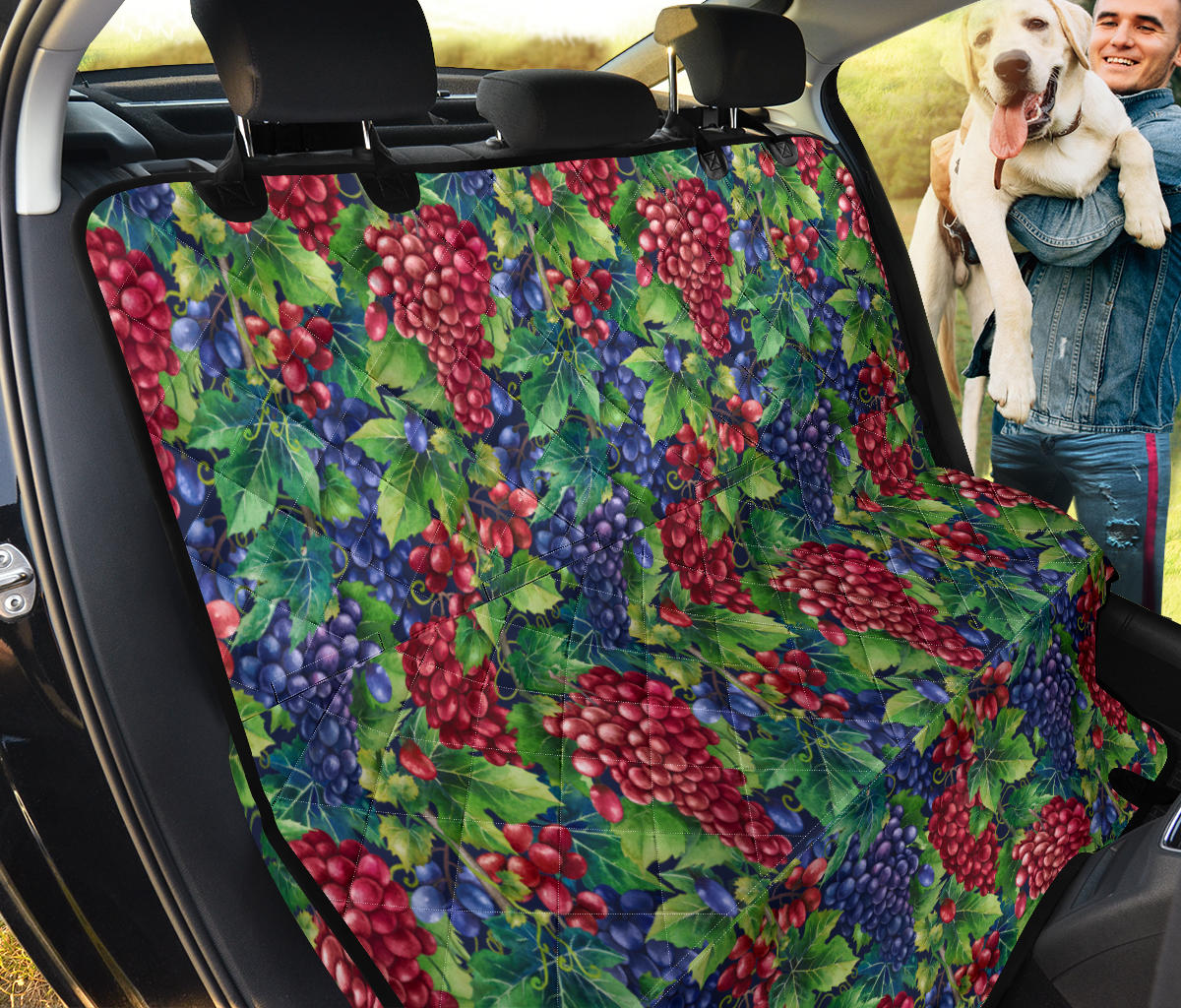 Grape Pattern Print Design GP02 Rear Dog  Seat Cover