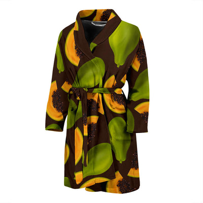 Papaya Pattern Print Design PP04 Men Bathrobe