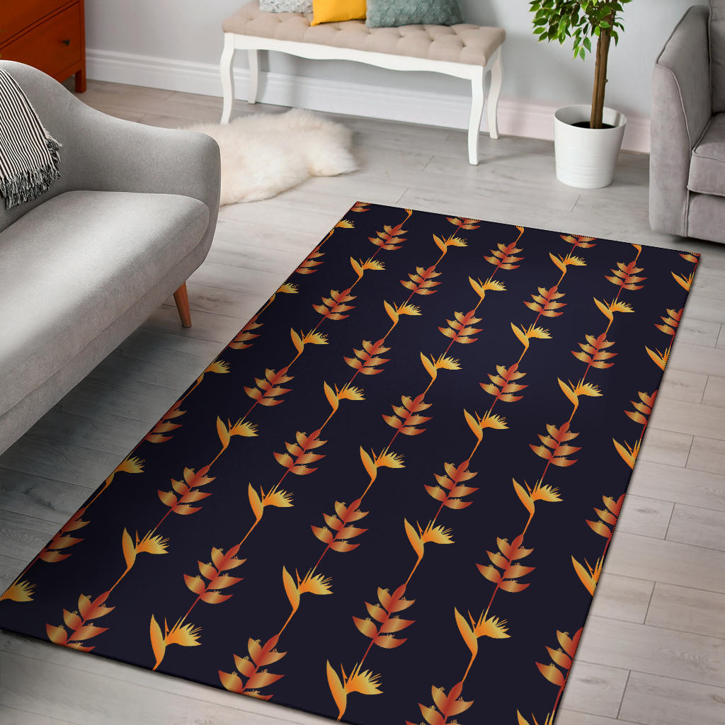 Heliconia Pattern Print Design HL06 Area Rugs