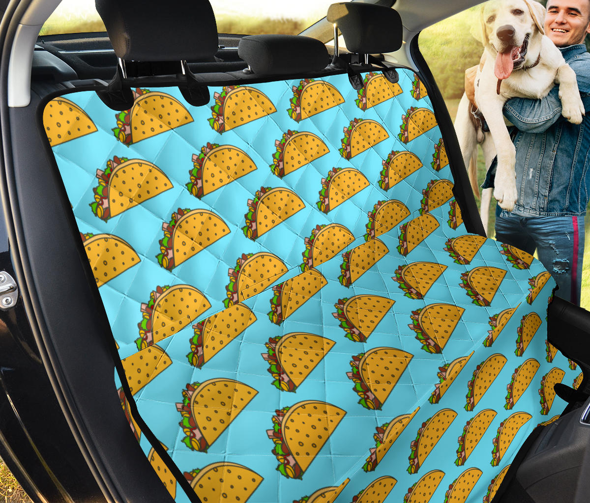 Taco Pattern Print Design TC03 Rear Dog  Seat Cover