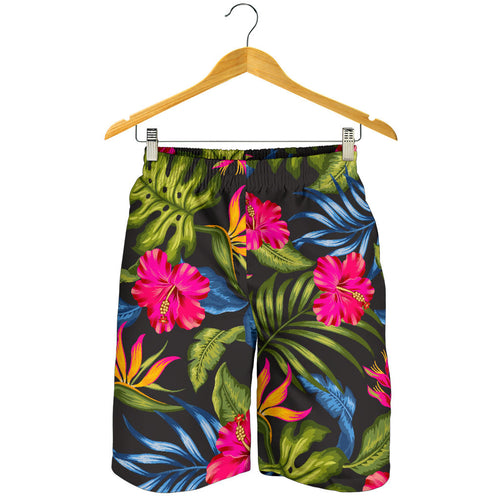 Bird Of Paradise Pattern Print Design BOP014 Mens Shorts