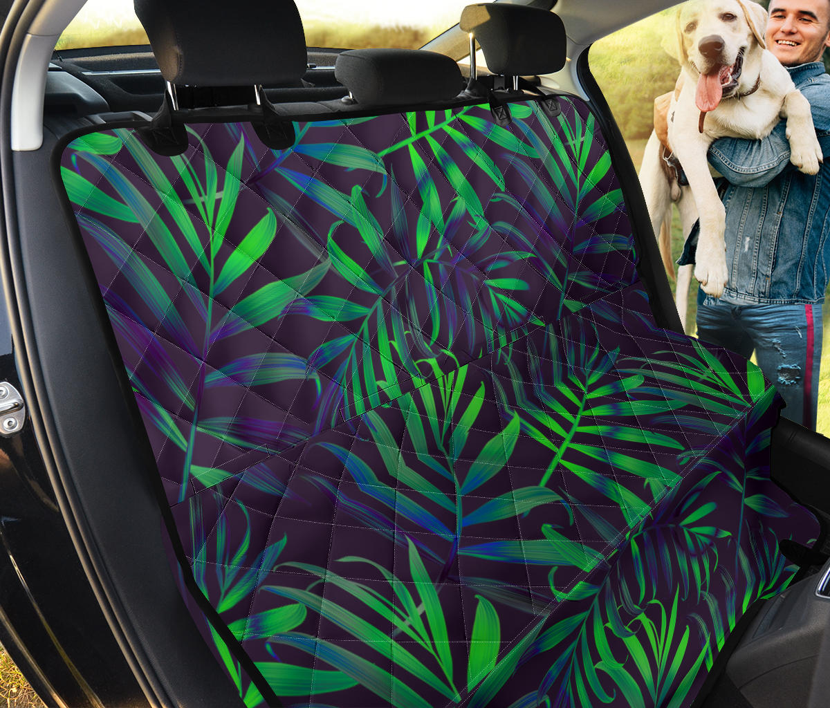 Palm Leaves Pattern Print Design PL01 Rear Dog  Seat Cover