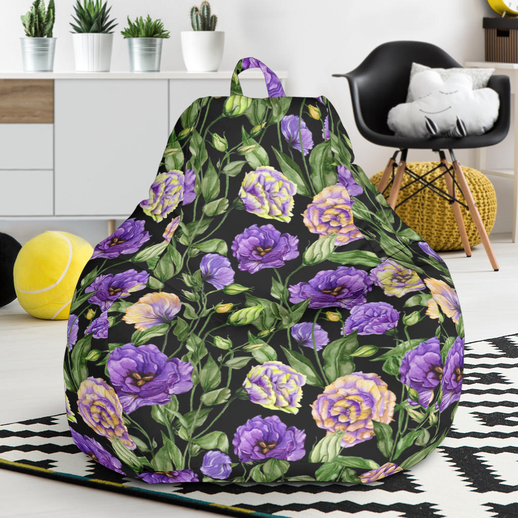 Lisianthus Pattern Print Design LT02 Bean Bag Chairs