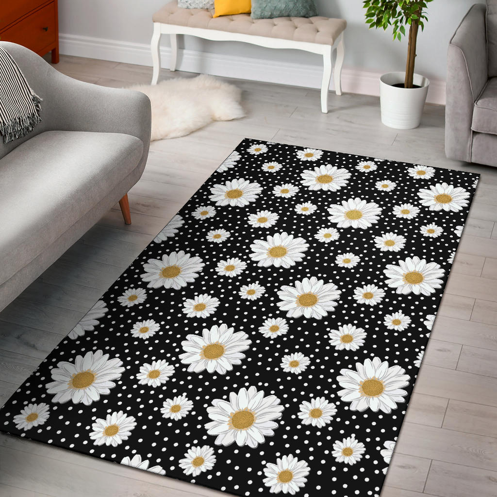 Daisy Pattern Print Design DS02 Area Rugs