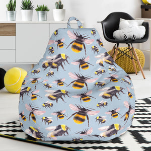 Bee Pattern Print Design BEE08 Bean Bag Chairs
