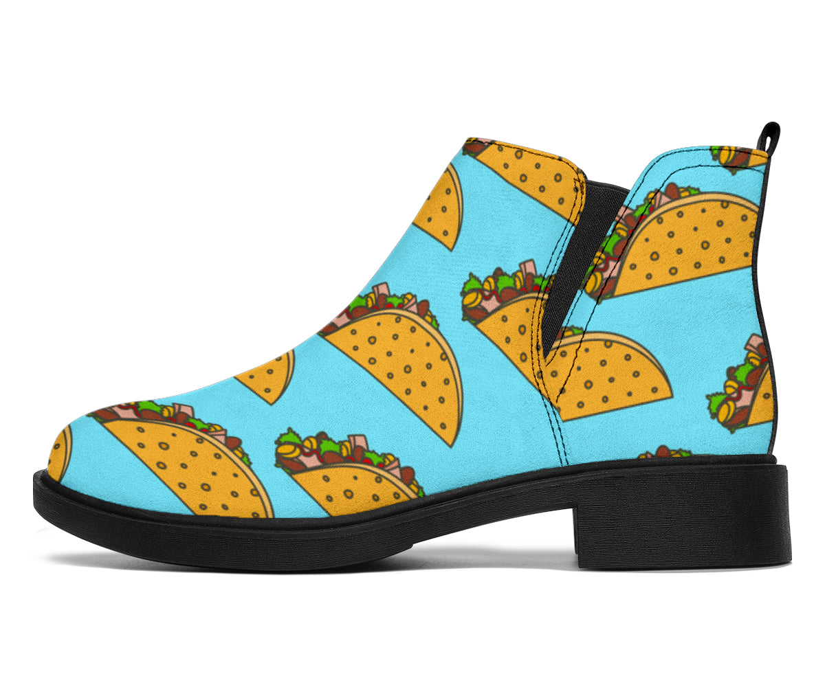 Taco Pattern Print Design TC03 Ankle Boots
